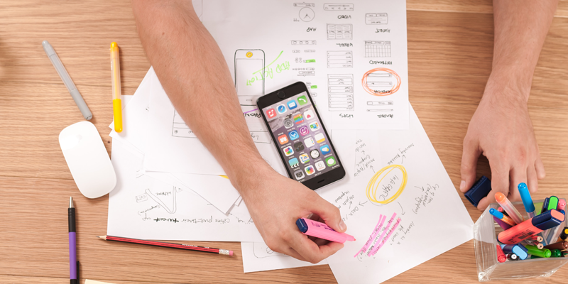 The Designing process by Mobile App Developers