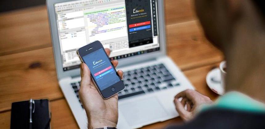 smartphone app concept