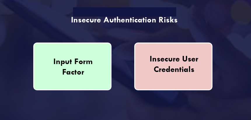 Insecure Authentication Risks